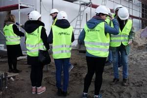 Wizyta dziennikarzy na placu budowy