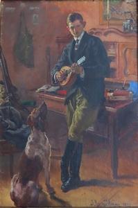 Józef Męcina Krzesz (1860-1934), Mężczyzna we wnętrzu