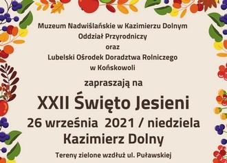 "Regulamin konkursu ""Mam oko na Święto Jesieni""."